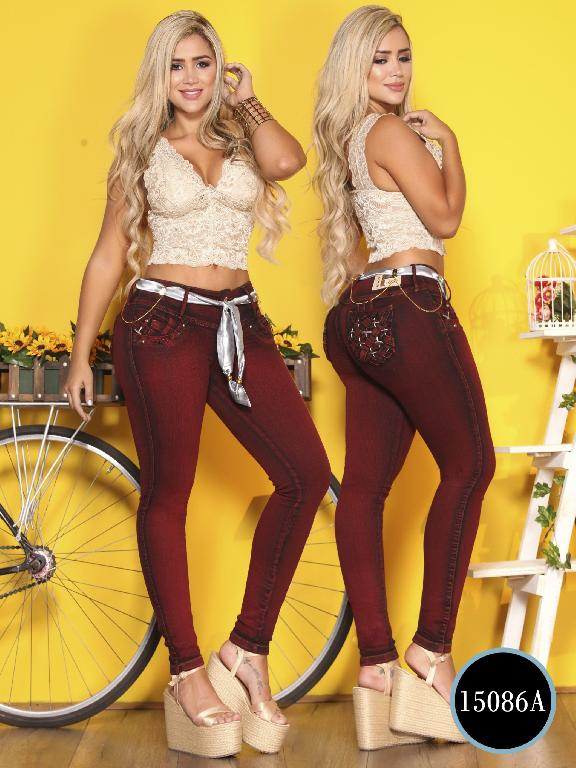 Jeans Levantacola Colombiano Ambar - Ref. 234 -15086 A
