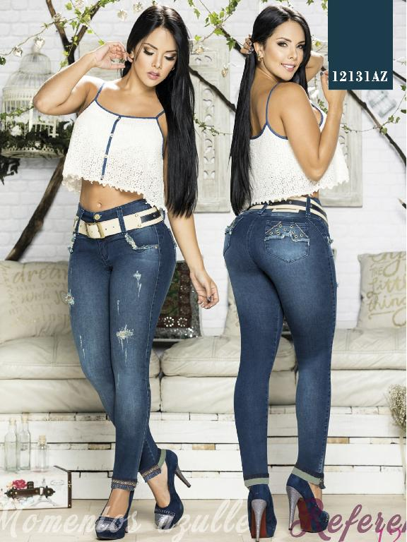Jeans Levantacola Colombiano Azulle  - Ref. 232 -12131 AZ