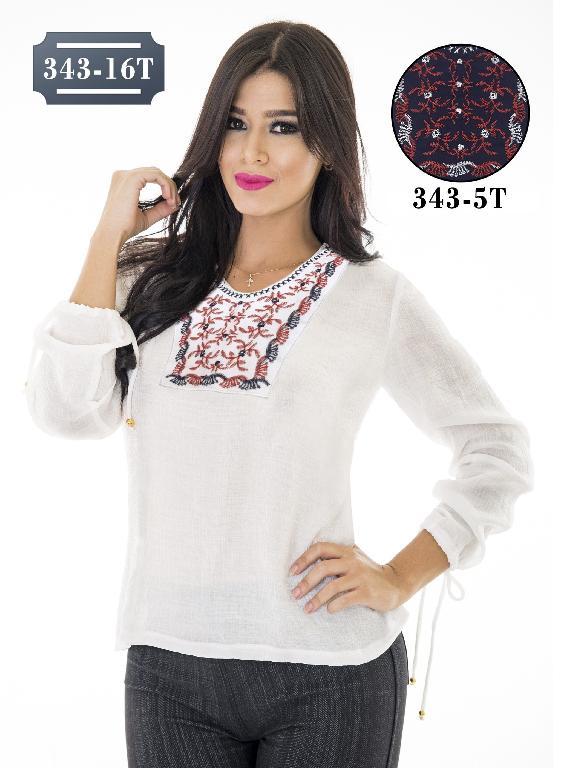 Blusa Moda Colombiana Tabbachi - Ref. 236 -343-16T Beige