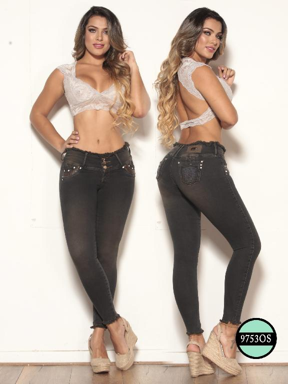 Colombian Jeans Butt Lifting Black Osheas - Ref. 103 -9753 OS