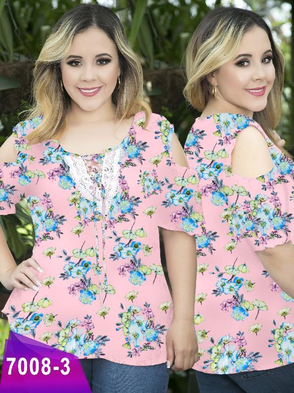 Blusa Moda Colombiana Thaxx Size Plus - Ref. 119 -7008-3 Rosado