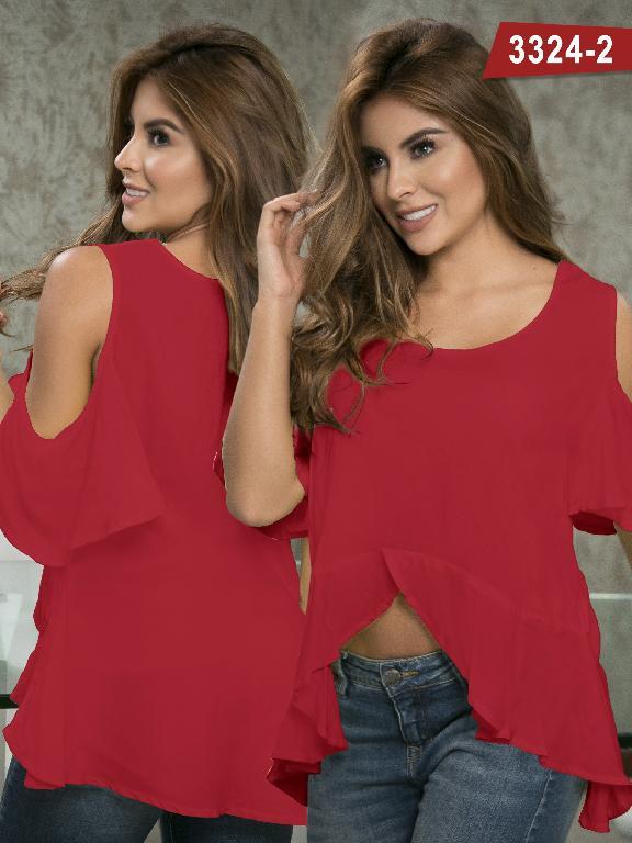Blusa Moda Colombiana Thaxx  - Ref. 119 -3324-2 Rojo