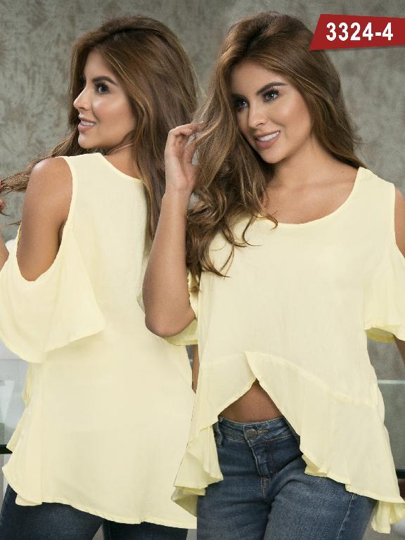 Blusa Moda Colombiana Thaxx  - Ref. 119 -3324-4 Amarillo