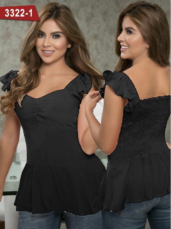 Blusa Moda Colombiana Thaxx  - Ref. 119 -3322-1 Negro