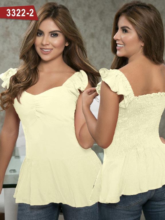 Blusa Moda Colombiana Thaxx  - Ref. 119 -3322-2 Amarillo