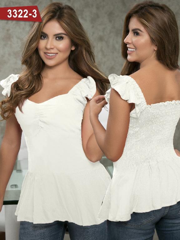 Blusa Moda Colombiana Thaxx  - Ref. 119 -3322-3 Beige