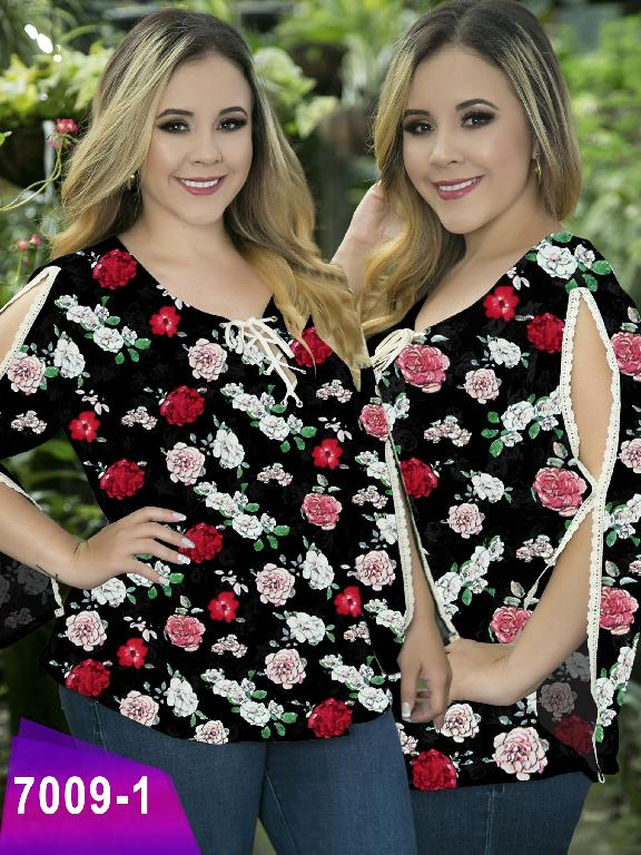 Blusa Moda Colombiana Thaxx Size Plus - Ref. 119 -7009-1 Negro