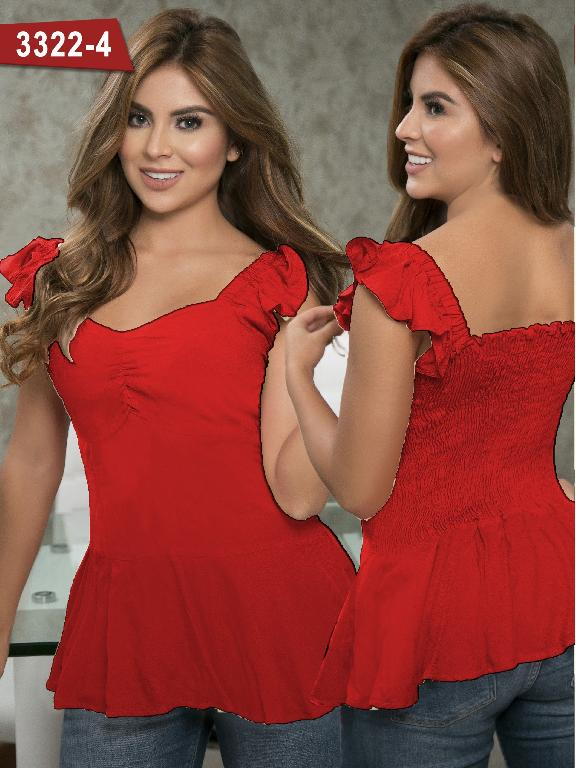 Blusa Moda Colombiana Thaxx  - Ref. 119 -3322-4 Rojo