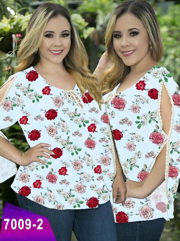 Blusa Moda Colombiana Thaxx Size Plus - Ref. 119 -7009-2