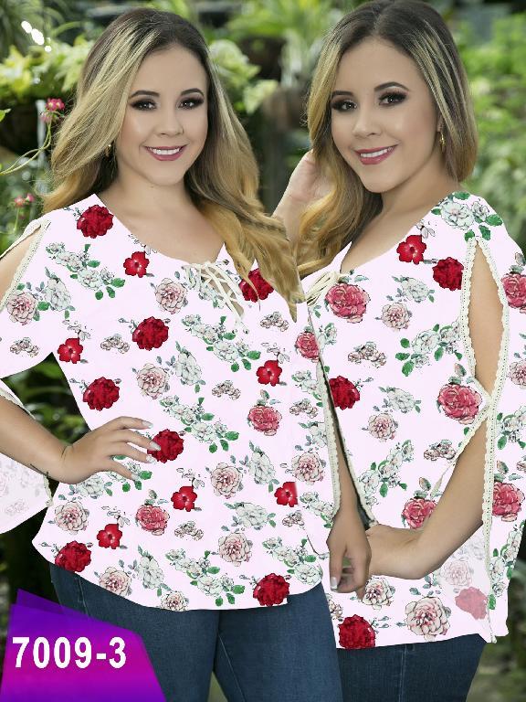 Blusa Moda Colombiana Thaxx Size Plus - Ref. 119 -7009-3 Rosado