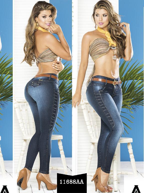 Jeans Levantacola Colombiano Studio AA - Ref. 235 -11688 AA