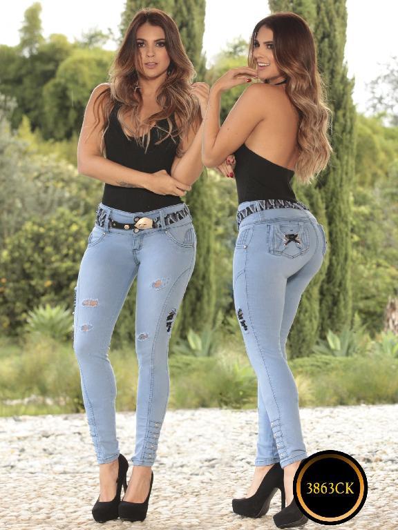 Jeans Dama Levantacola Colombiano Cokette - Ref. 119 -3863-CK