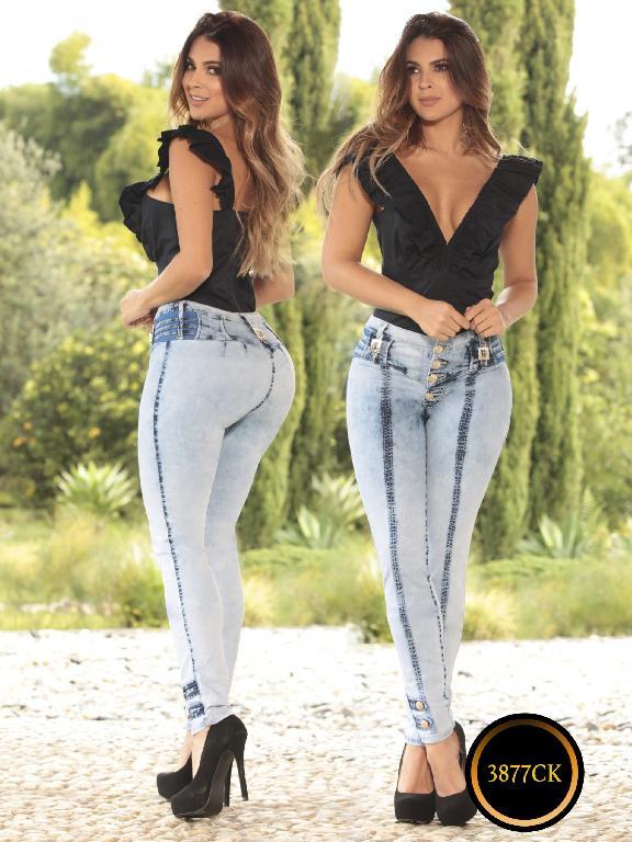 Jeans Dama Levantacola Colombiano Cokette - Ref. 119 -3877-Ck