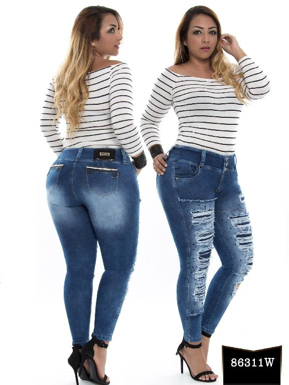 Jeans Levantacola Colombiano Wow