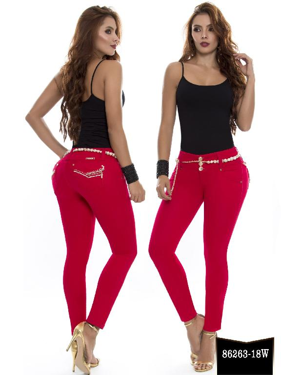 Jeans Levantacola Colombiano Wow - Ref. 243 -86263-18 W Coral