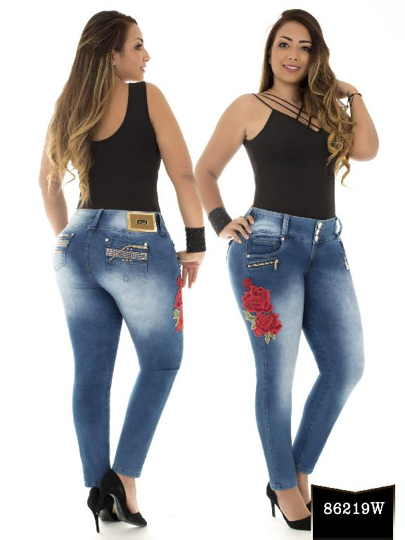 Jeans Levantacola Colombiano Wow - Ref. 243 -86219 W