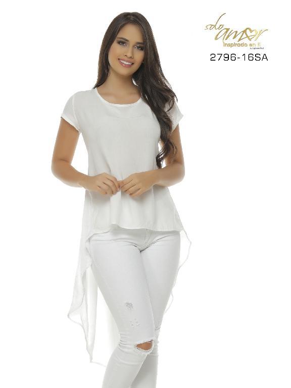 Blusa Moda Colombiana Solo Amor - Ref. 246 -2796-16 SA Beige