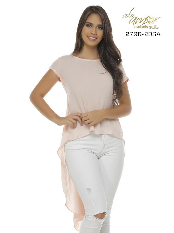 Blusa Moda Colombiana Solo Amor - Ref. 246 -2796-20 SA Rosado