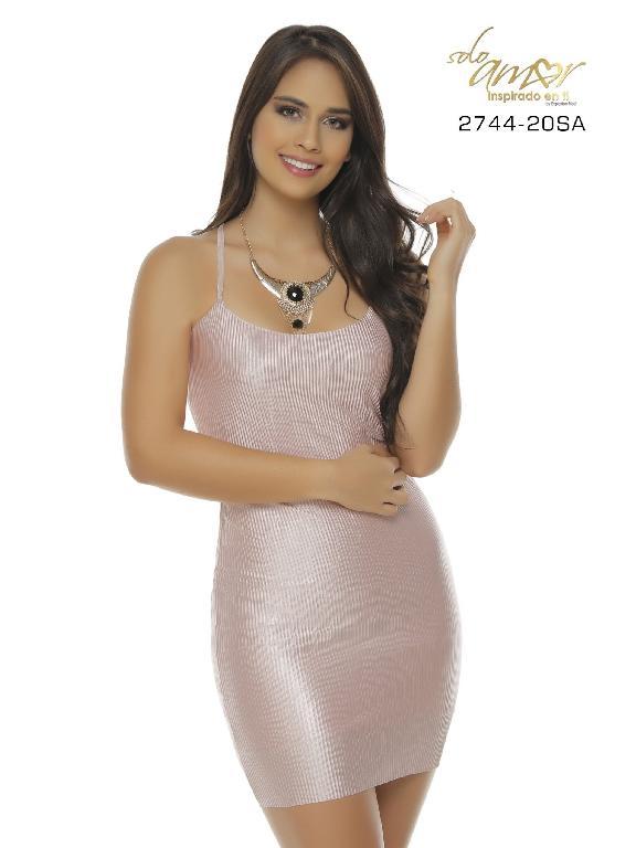 Vestido Moda Colombiano Solo Amor  - Ref. 246 -2744-20 SA Rosado