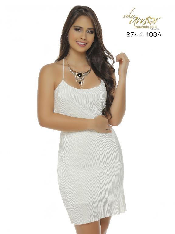Vestido Moda Colombiano Solo Amor  - Ref. 246 -2744-16 SA Beige