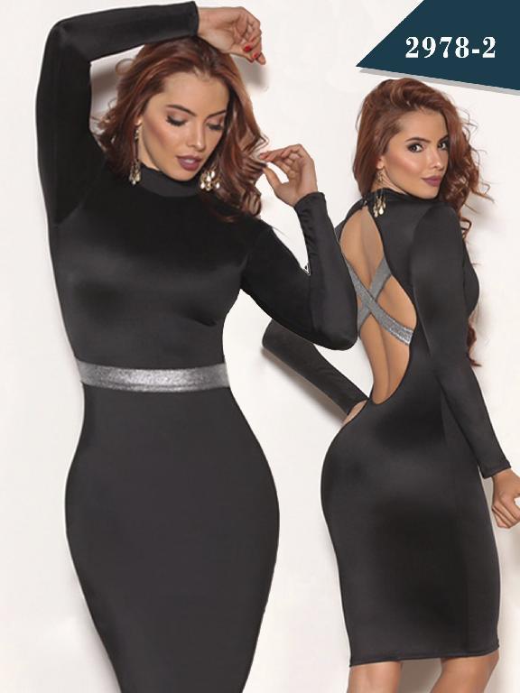 Vestido Moda Colombiano Cereza - Ref. 111 -2978-2 Negro