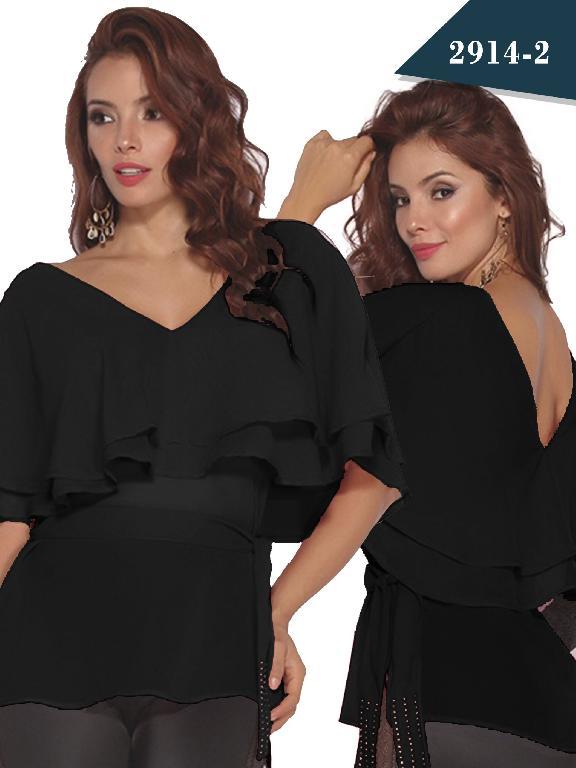 Blusa Moda Colombiana Cereza - Ref. 111 -2914-2 Negro