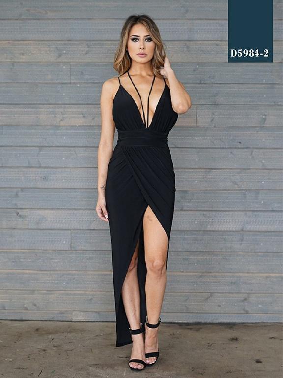 Vestido Moda Azulle Fashion - Ref. 256 -D5984-2 Negro