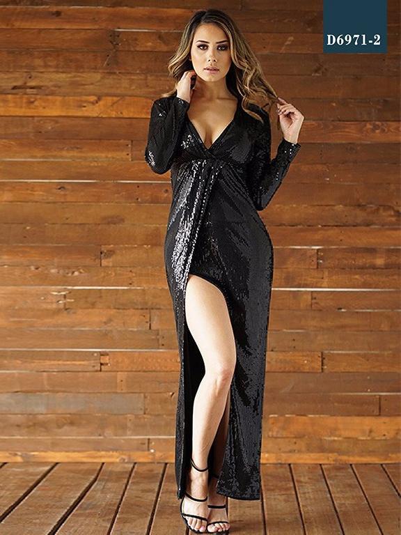 Vestido Moda Azulle Fashion - Ref. 256 -D6971-2 Negro