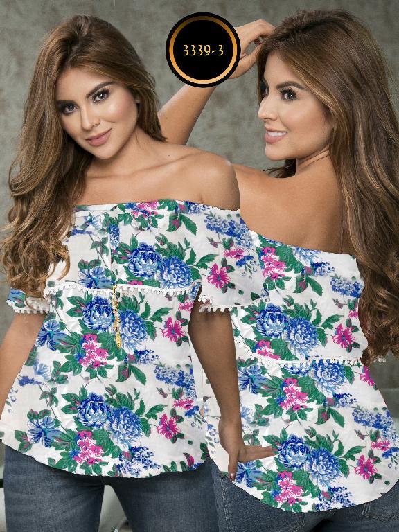 Blusa Moda Colombiana Thaxx  - Ref. 119 -3339-3 Azul