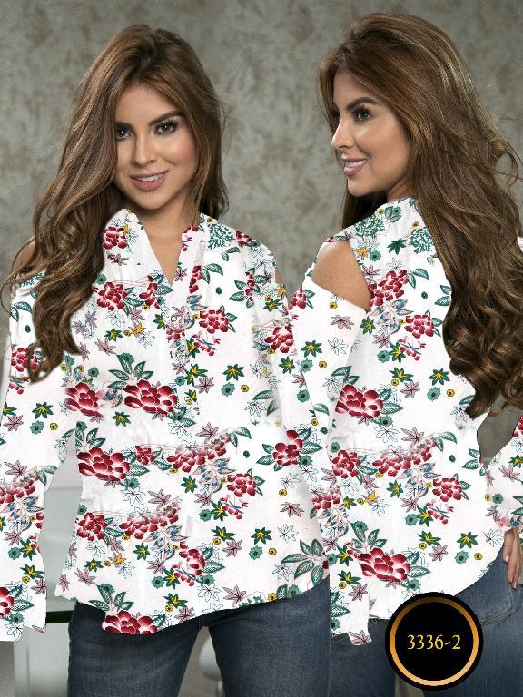 Blusa Moda Colombiana Thaxx  - Ref. 119 -3336-2 Blanco