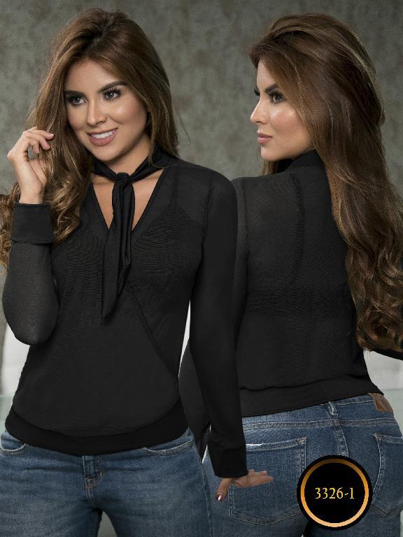 Blusa Moda Colombiana Thaxx  - Ref. 119 -3326-1 Negra