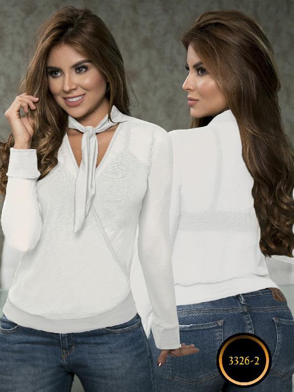 Blusa Moda Colombiana Thaxx  - Ref. 119 -3326-2 Blanco