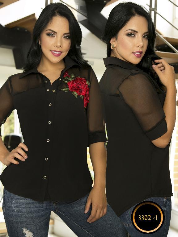 Blusa Moda Colombiana Thaxx  - Ref. 119 -3302-1 Negro