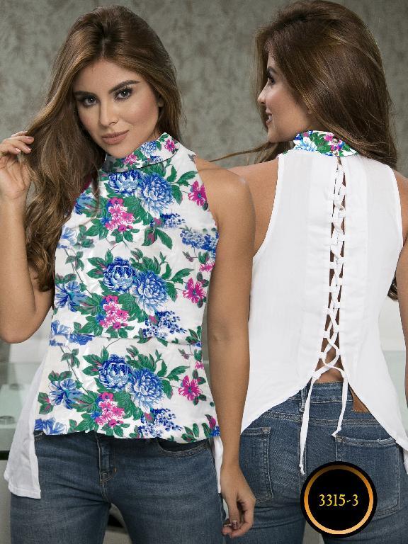 Blusa Moda Colombiana Thaxx  - Ref. 119 -3315-3 Azul