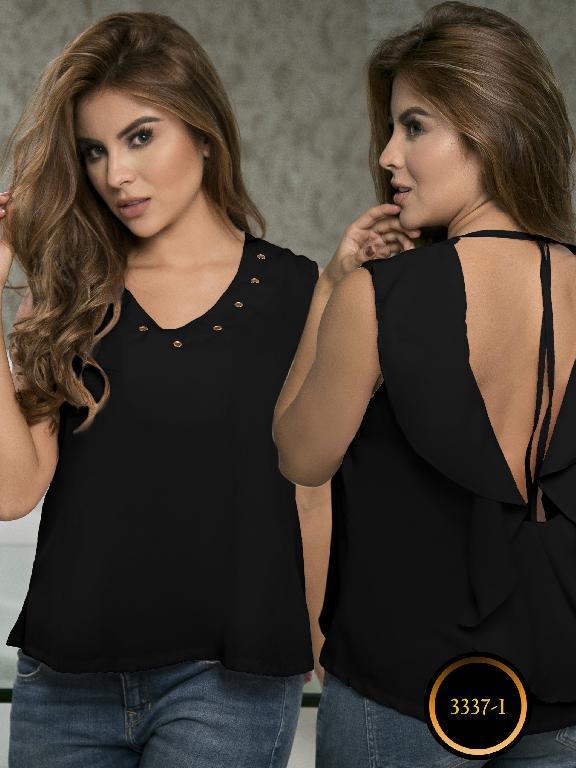 Blusa Moda Colombiana Thaxx  - Ref. 119 -3337-1 Negro