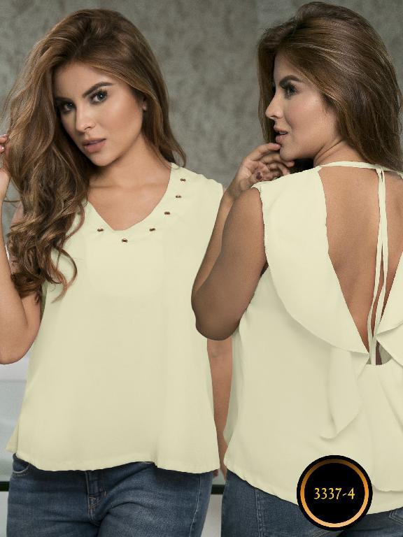 Blusa Moda Colombiana Thaxx  - Ref. 119 -3337-4 Amarilo