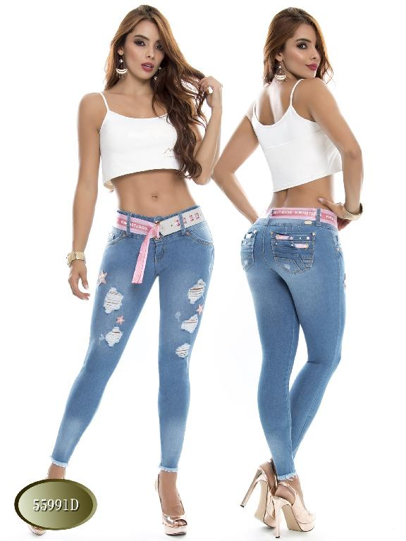 Jeans Levantacola Colombiano Do  - Ref. 248 -55991 D