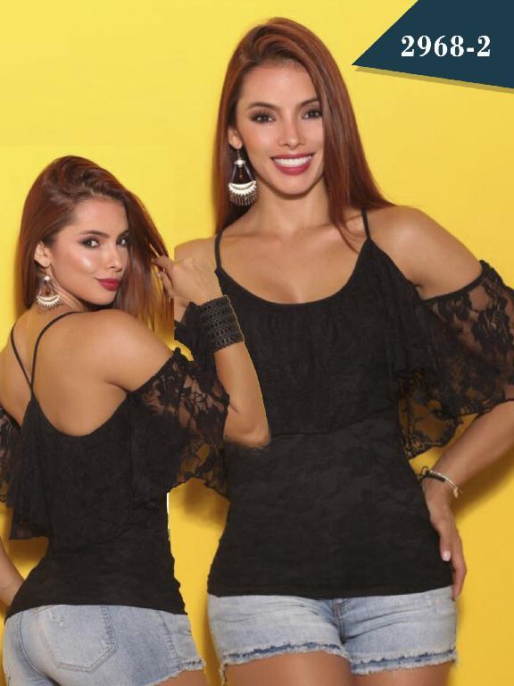 Blusa Moda Colombiana Cereza - Ref. 111 -2968-2 Negro