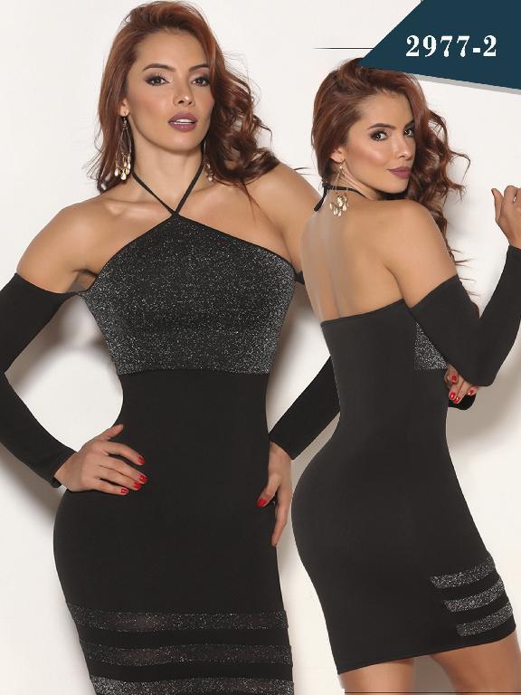 Vestido Moda Colombiano Cereza - Ref. 111 -2977-2 Negro