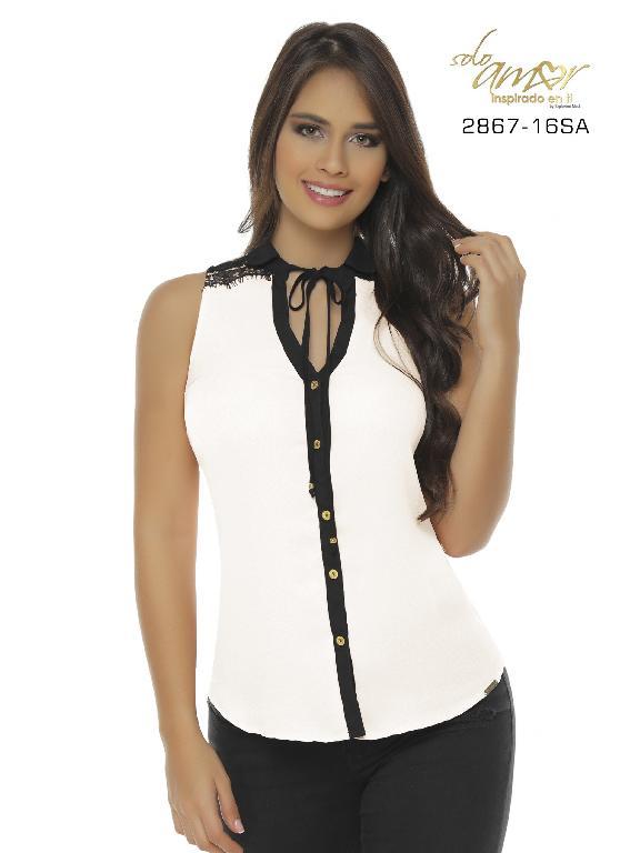 Blusa Moda Colombiana Solo Amor  - Ref. 246 -2867-16 SA Beige