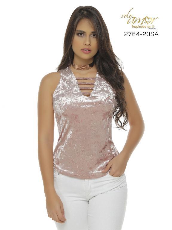 Blusa Moda Colombiana Solo Amor  - Ref. 246 -2764-20 SA Rosado