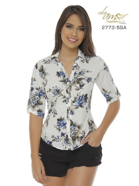 Blusa Moda Colombiana Solo Amor  - Ref. 246 -2773-5 SA Azul