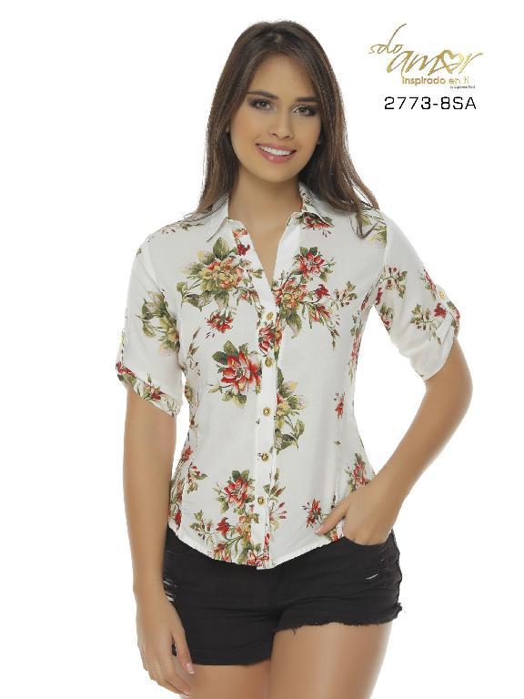 Blusa Moda Colombiana Solo Amor  - Ref. 246 -2773-8 SA Verde