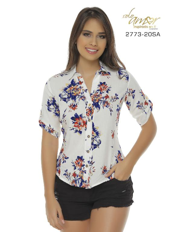 Blusa Moda Colombiana Solo Amor  - Ref. 246 -2773-20 SA Rosado