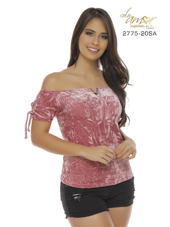 Blusa Moda Colombiana Solo Amor - Ref. 246 -2775-20 SA Rosado