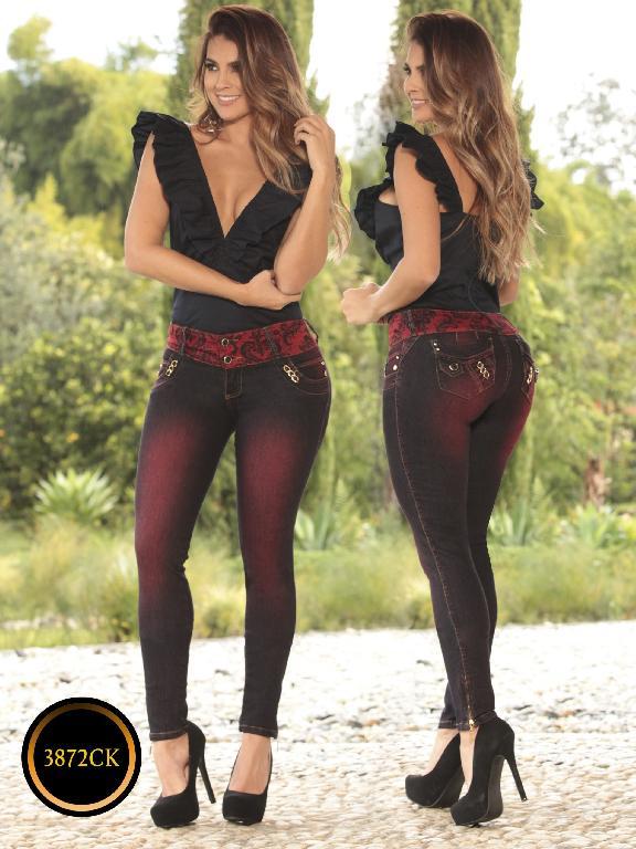 Jeans Dama Levantacola Colombiano Cokette - Ref. 119 -3872CK