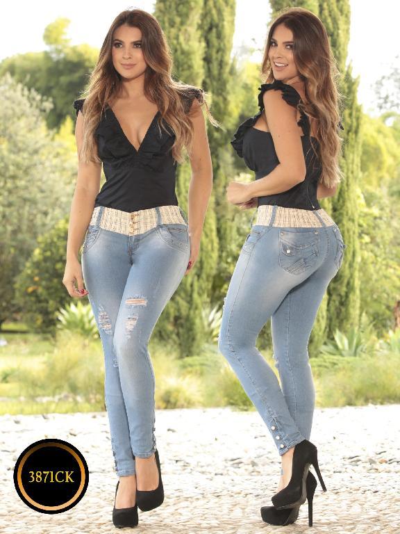 Jeans Dama Levantacola Colombiano Cokette - Ref. 119 -3871CK
