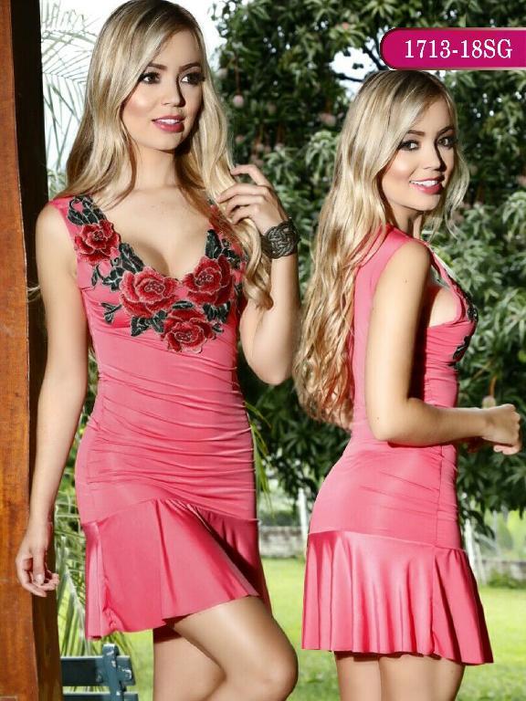 Vestidos Moda colombiana Signos - Ref. 259 -1713-18 SG Coral