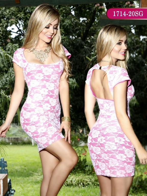 Vestidos Moda colombiana Signos - Ref. 259 -1714-20 SG Rosado