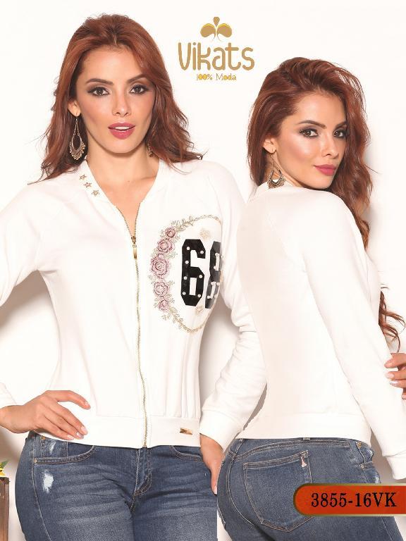 Chaqueta Moda Colombiana Vikats - Ref. 252 -3855-16 VK Beige